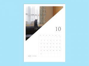 2021年月別カレンダー_ねこ_A4サイズ