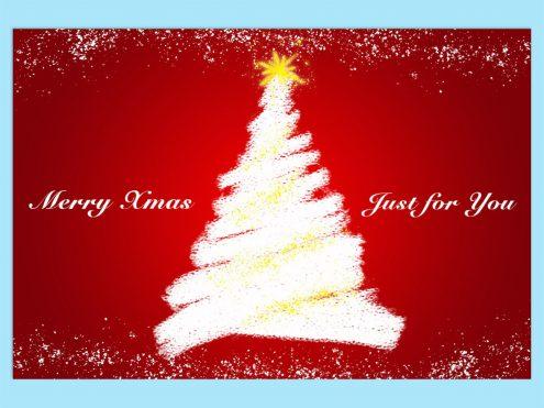 無料のテンプレート:クリスマスカード