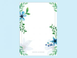 【WPS Writer】春のレターテンプレート1
