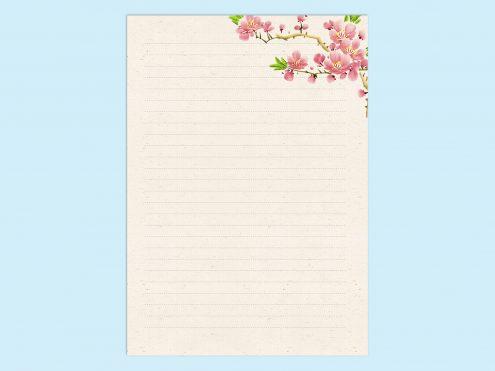 【WPS Writer】春のレターテンプレート3