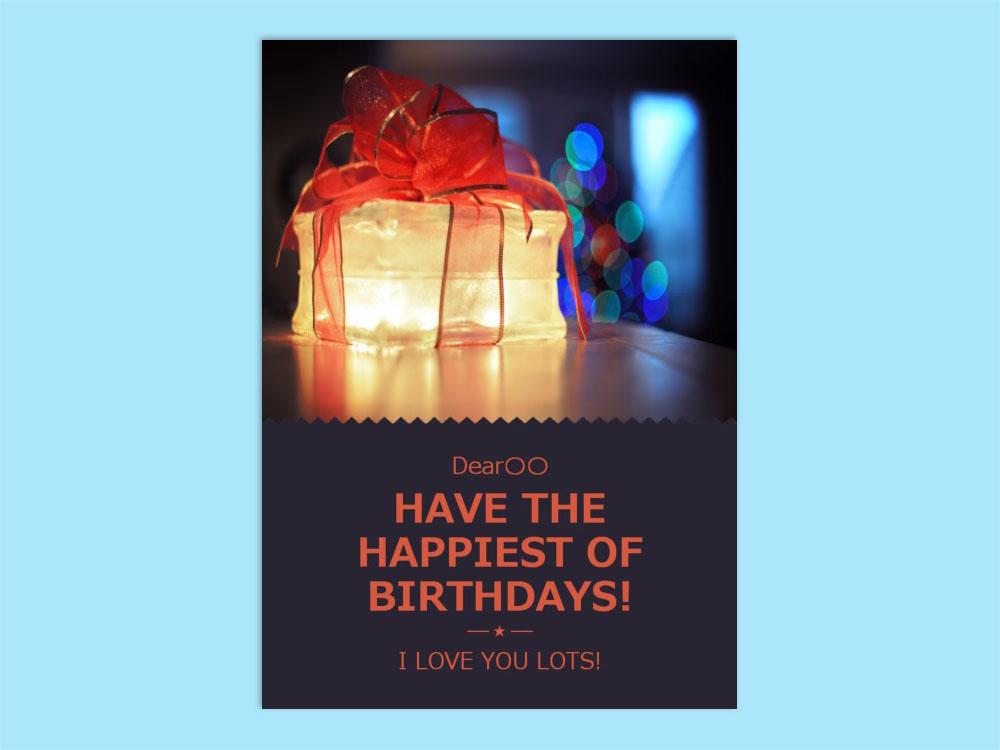 [レター]Birthday card