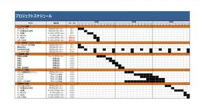 無料で使えるテンプレート ガントチャート