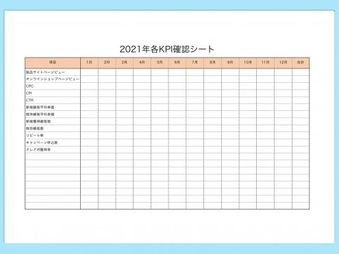 【WPS Spreadsheets】KPI確認シート
