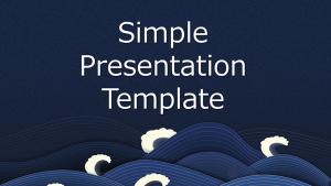 [提案書]Simple Presentation Template_Wave