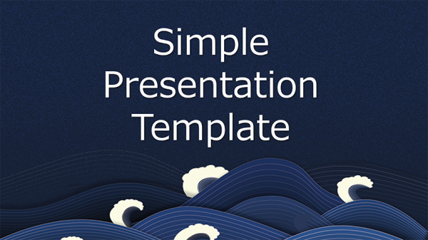 [提案書]Simple Presentation Template_Wave